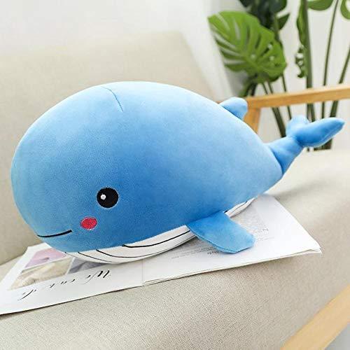 KXCAQ 35-80cm Super Suave Ballena de Peluche de Juguete de Dibujos Animados Animal pez muñeco de Peluche bebé Almohada para Dormir cojín Chico Novia Regalo 50cm 1