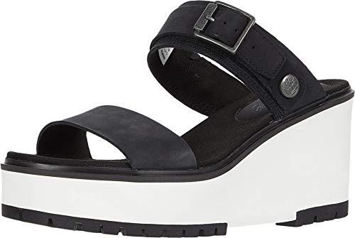 Timberland Womens Koralyn Sandals, Black Nubuck, 8.0 M