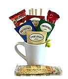 Tea Gifts – Includes Black Tea Bags, Tea Mug, Tea Bag Holder, Cookies, More – Tea Gift Set (Hot Tea – Black Tea)