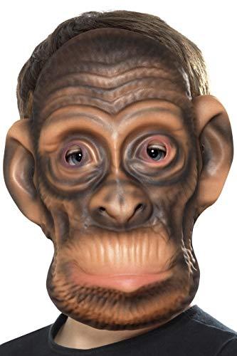 Smiffys Kinder Unisex Schimpansen Maske, One Size, Braun, 46972