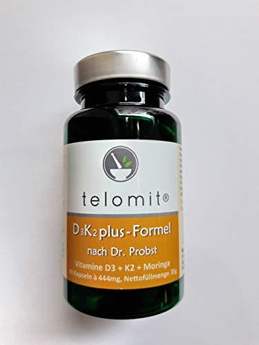 telomit D3-K2 Plus-Formel, Vitamin D3-4.000 I.E Vitamin K2 Menachinon, 35 g