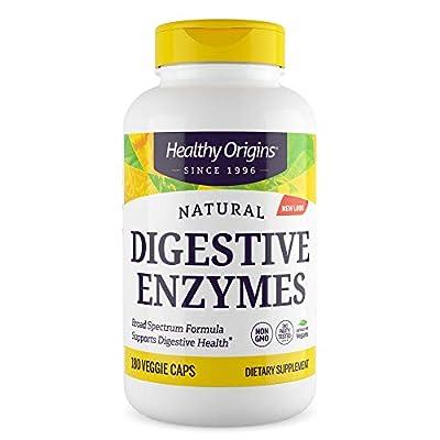 Healthy Origins Digestive Enzymes (Broad Spectrum, Non-GMO), 180 Veggie Caps