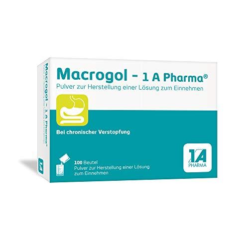 Macrogol - 1 A Pharma Pulver zur Herstellung einer Lösung zum Einnehmen bei chronischer Verstopfung: Das sanfte und gut verträgliche Abführmittel (100 Beutel)