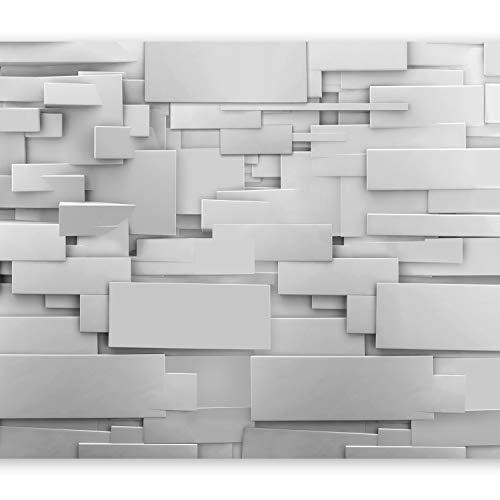murando Papier peint intissé 350x256 cm Décoration Murale XXL Poster Tableaux Muraux Tapisserie Photo Trompe l'oeil 3D Gris f-A-0254-a-a