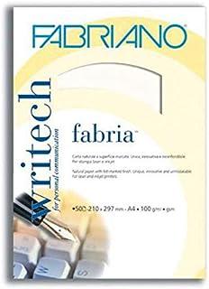 ثوب ورق مراسلات A4 فابريانو 100 جرام لون ابيض 50ورقة