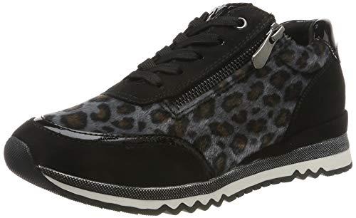 MARCO TOZZI Damen 2-2-23713-33 Sneaker, Schwarz (Black/Leo 005), 38 EU