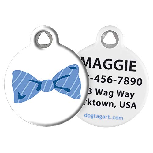 Dog Tag Art Cat or Dog Tag, Personalized Name Tag for Pets, Bow Tie, Small