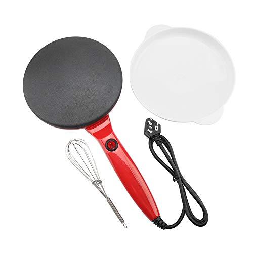 220V elektrische runde Antihaft-Pfannkuchenhersteller-Kreppmaschine Bratpfanne Pizza-Backwerkzeuge(rot)