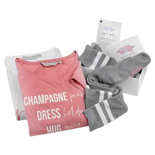 shopandmarry Junggesellinnenabschied Weddingbox für Zwei | Pyjama Party | Geschenkbox für Braut und Brautjungfer | Ideal für den JGA und die Hochzeit