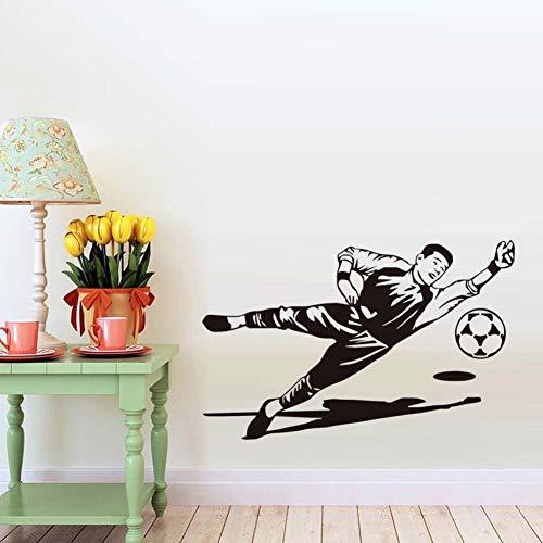 Fußball Torwart Handschuhe Figur Silhouette Skizze Wandaufkleber Abnehmbare Vinyl Wand Wand Für Sport Fans Kinderzimmer Dekoration