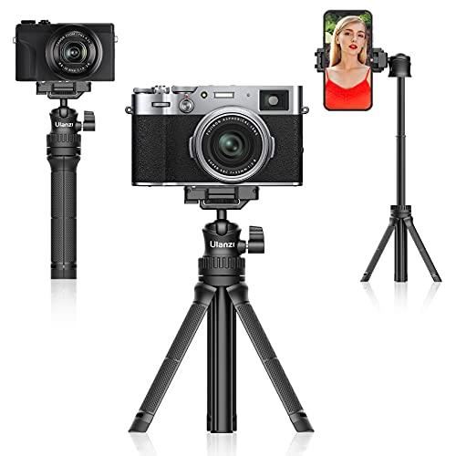 Treppiede Smartphone, ULANZI MT-34 Bastone Selfie Estensibile, 3 in 1 Cavalletto per Smartphone Compatto, Treppiede Fotocamera Compatibile con tutti smartphone(iPhone,Samsung,Huawei) e fotocamera