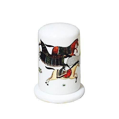 ZZYJYALG Titular del palillo de dientes, caja de palillos para la cocina, dispensador de palillos de dientes, lata de caña de cerámica, caja de dientes de china de hueso, adornos de vajilla establecid