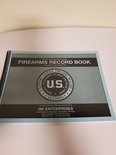 RK Enterprises Dealer Firearms/FFL Bound Log Book/Firearms Acquisition and Disposition Record Book1000 Entry