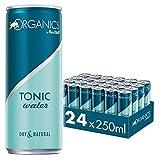 Organics by Red Bull Tonic Water, 24 x 250 ml, Dosen Bio Getränke 24er Palette, OHNE PFAND