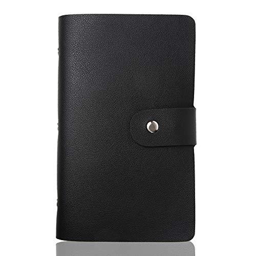 [LASSE MOA] カードケース 大容量 156枚収納 カードホルダー レディース メンズ 名刺ホルダー 名刺ファイル クレジットカードケース スキミング防止 (ブラック)