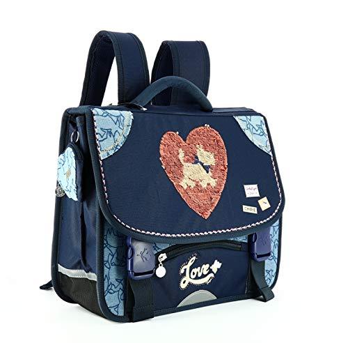 Cartable CHIPIE Heart Sequins, Gibecière 2...