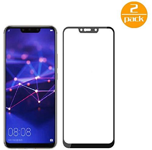 [2-pak ] voor Huawei Mate 20 Lite pantserglas beschermfolie (zwart), displaybeschermglas pantserfolie voor Huawei Mate 20 Lite beschermglas folie [ultra-helder] [kristalhelder] [Bubble Free]