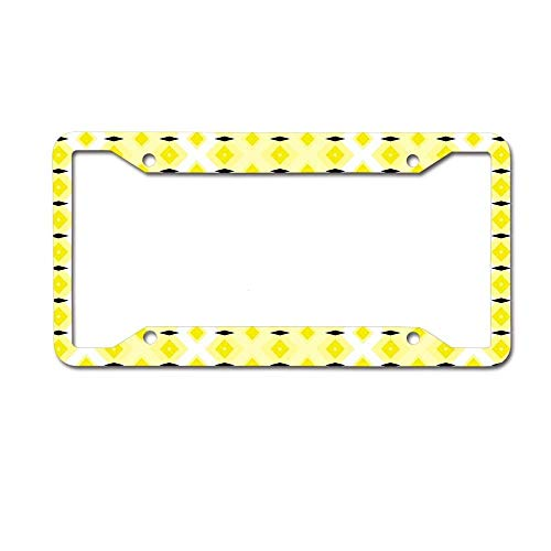Lplpol Diamonds Plus Diamonds Auto License Plate Frame Cover, Aluminum Novelty Metal Car Tag Holder Car Accessory, 6x12 Inch, RU7400 Michigan