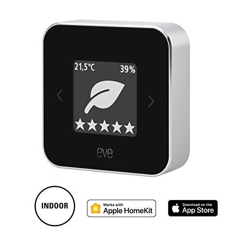 Eve Room - Monitor de calidad del aire, última generación, non occorrono bridge o gateway, negro (Apple HomeKit)