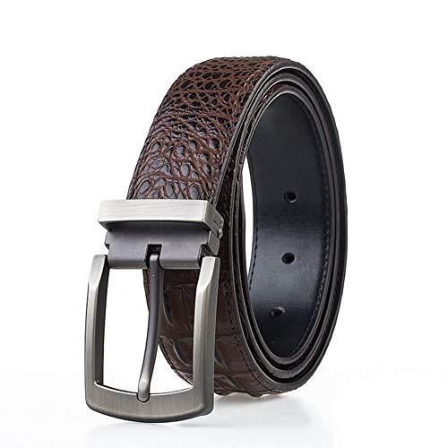 GUOCU Clásico Cinturón De Cuero Para Hombres Negocio Durable Cinturón Conveniente Para Los Pantalones Vaqueros Del Traje Cinturón Recreación Al Aire Libre Fitness Ejercicio