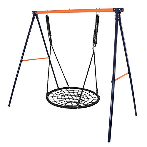 """Super Deal 40"""" Web Tree Swing Set - Extra Large Platform - 360°Rotate°- 71'' Adjustable Detachable Nylon Rope - Attaches to Trees or Swing Sets - for Multiple Kids or Adult (Combo Set 40'')"""