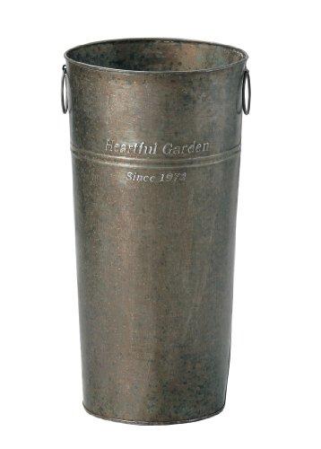 GREENHOUSE アンティークブリキバケツ 2529-B 筒型 M