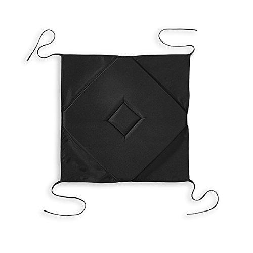 Today Galette 4 Coins Réglisse Polyester Noir 40 x 40 x 2 cm