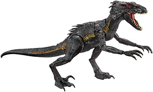 Mattel FLY53 - Jurassic World Dinosaurier Spielzeug Ultimativer Villain Dino Indoraptor mit Lichter und Geräusche, Indominus Rex und Velociraptor, Spielzeug ab 4 Jahren