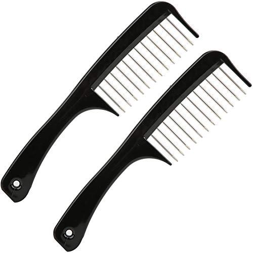 Peine, productos de protección Peine de dientes ancho 2pcs hechos de ABS + Aguja de acero