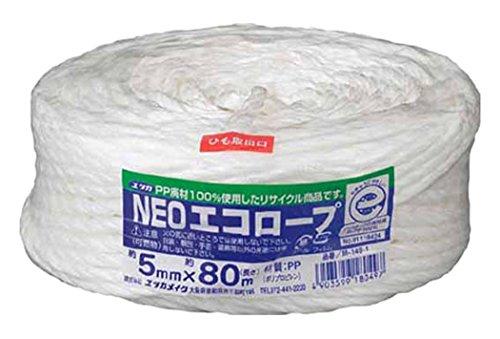 ユタカメイク ユタカメイク Yutaka ユタカメイク 荷造り紐 NEOエコロープ 5mm×80m ホワイト M-149-1 342-0922