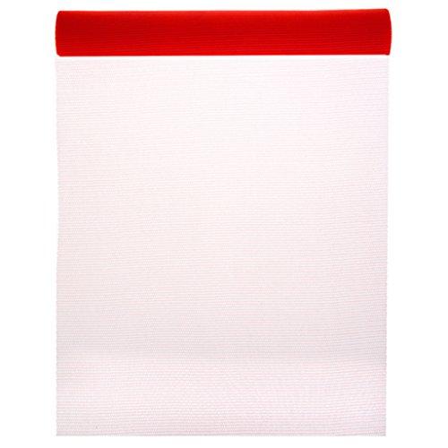 SANTEX 70231-7 - Chemin de table tulle rouge 50 cm