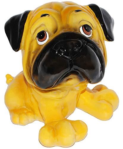 alles-meine.de GmbH Spardose - Hund - Mops / englische Bulldoge / Dogge - stabile Sparbüchse aus Kunstharz - Hundewelpe - Comic Hunde / Hundeschule - Sparschwein - lustig witzig ..