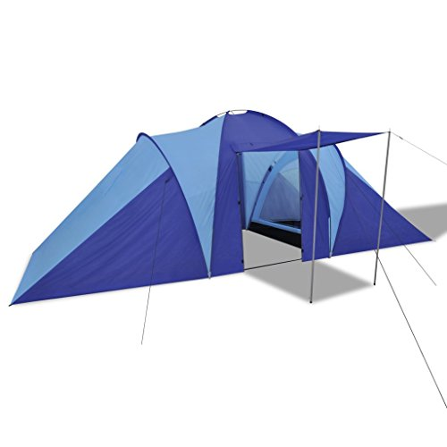 Festnight Tente de Camping Randonnée Tente Dôme Imperméable 6 Personnes avec Sac de Transport