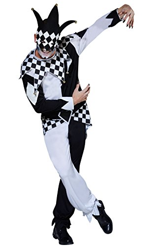 Rubie 's Officiële Dark Jester Halloween Circus, Volwassene kostuum - standaard maat