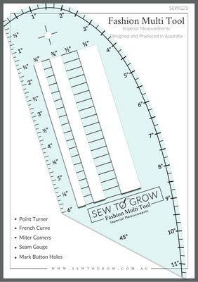 Sew To Grow - Fashion Measuring Multi-Tool Ruler