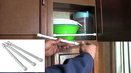 Kitchen Storage Organization Accessories Cupboard Bars - 3 pack RV Trailer Camper