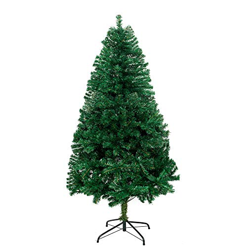SY CRAFT Artificial Christmas Tree,6Ft North Valley Spruce Xmas Tree with Solid Metal Stand Holiday Decoration for Christmas