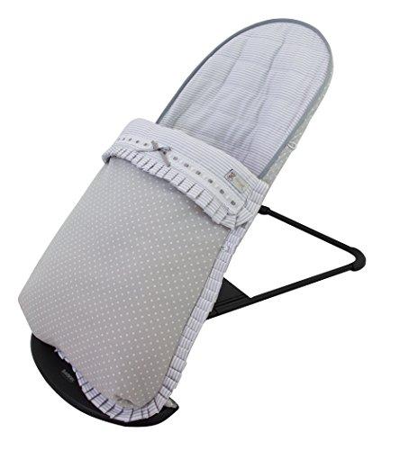 Funda y saco para hamaca babybjörn balance soft (sustituye tapicería original). Verona gris