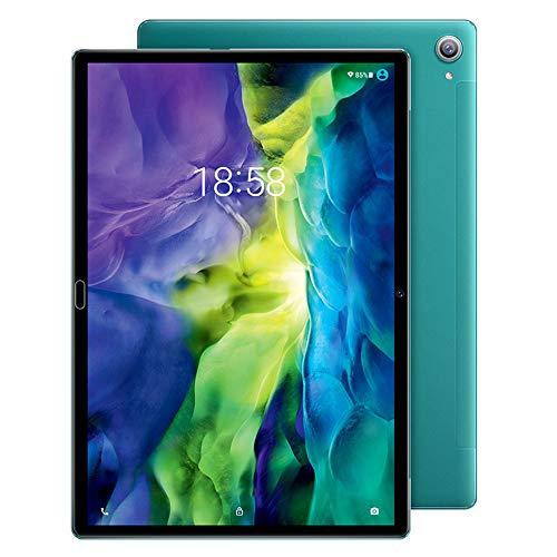 tablet PC 10.8 Pulgadas Android 9.0 HD PC Dual SIM Dual Standby Red 4G con Banda Dual 5G WiFi Bluetooth GPS FM Reconocimiento Facial 15000mAh Batería Tipo-C Recargable