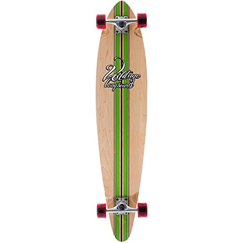 Voltage Big Pintail Green Longboard - 42 inch