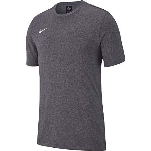 Nike Team Club 19 Tee, T-Shirt Uomo, Charcoal Heather/Charcoal Heather/White, 3XL