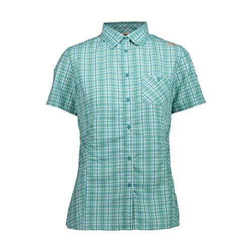 CMP T-Shirt à Manches Courtes pour Femme avec Poche XS Solarium en céramique.