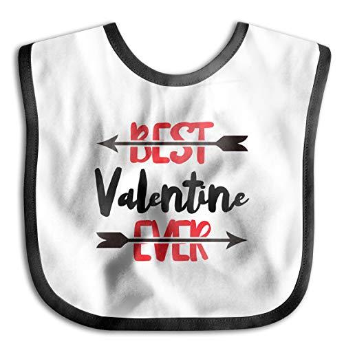 PANK11 Baby Best Valentine Ever Feeder Bibs Girls Boys Lovely Drooler Bibs Burp Cloth Stain Resistant