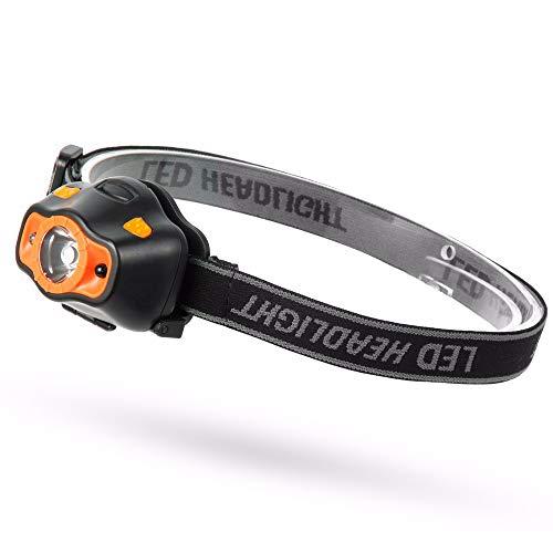 WGLG Mini Faro LED con Sensor 3 Modos de iluminación Faros LED Impermeables con Pilas para Acampar, Pescar, Correr