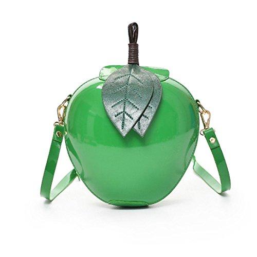 TUDUZ Damenmode Apfel Reißverschluss Handtasche Schultertasche Tote Damen Messenger Tasche (Grün)