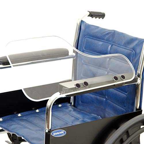 The Aftermarket Group Wheelchair Half Lap Tray, Clear Acrylic, Flip-Up Hardware, Left, TAG010037