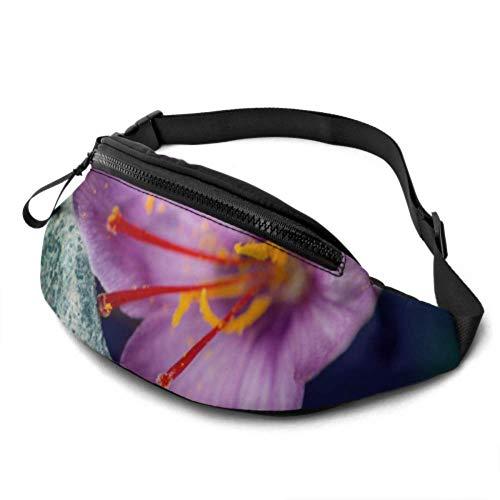 Yushg Gürteltasche für Männer Eine blühende Safran-Reise Gürteltasche für Männer mit Kopfhöreranschluss und verstellbaren Trägern Taillentasche für Reisesportwandern