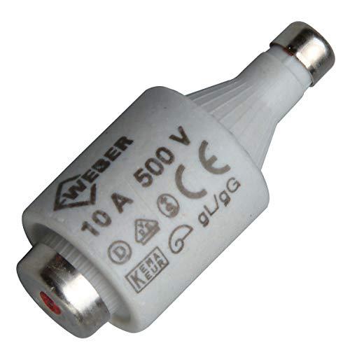 Kopp Sicherungseinsatz Diazed DII, 5 Stück in SB-Verpackung, E27, 10 A, 325200080