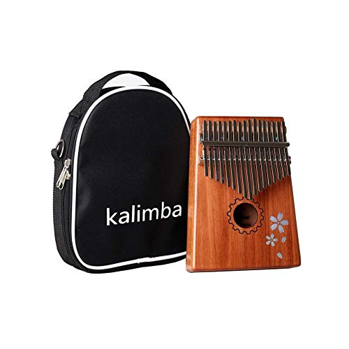 Learn More About Portable 17 Keys African Mahogany Finger Thumb Piano Wooden Keyboard Percussion Mus...