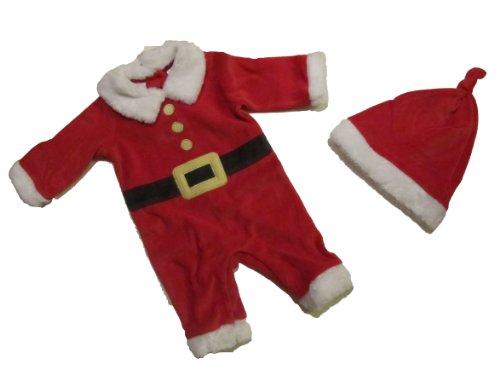 Merk: First Impressions Kerstman 56/62 pak 2-delig Overall + muts Santa Baby Kerstmis US Size 0-3 maanden